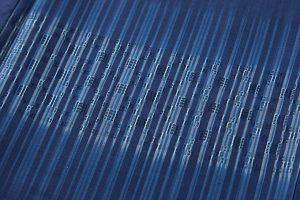 秋山眞和作 藍染綾の手花織紬のサブ4画像