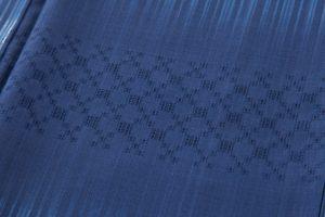 秋山眞和作 藍染綾の手花織紬のサブ5画像