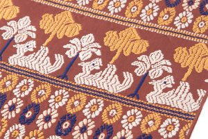龍村平蔵謹製 袋帯「鳥いちご」のサブ2画像