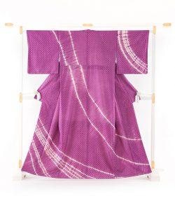 秋山眞和作 新小石丸綾の手花織紬訪問着のメイン画像