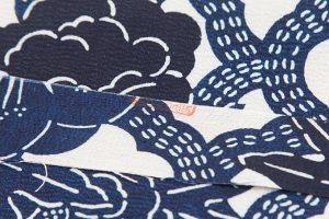 浦野理一作 型絵染紬着物のサブ5画像