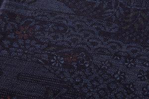 本場結城紬 160亀甲総詰絣のサブ4画像