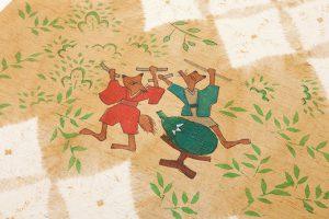 鈴木紀絵作 紬地名古屋帯地「鎮守の森」のサブ2画像