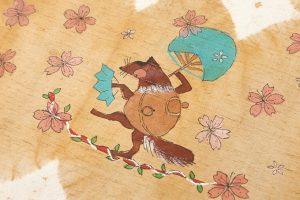 鈴木紀絵作 紬地名古屋帯地「鎮守の森」のサブ3画像