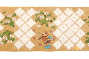 鈴木紀絵作 紬地名古屋帯地「鎮守の森」のサブ6画像