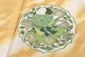 初代由水十久作 本加賀友禅訪問着「飛鳥」のサブ4画像