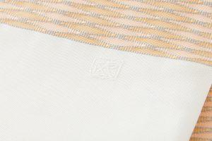 人間国宝 北村武資作 袋帯地 繧繝錦「魚々子縞(ななこじま)」のサブ4画像