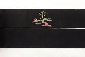 東京染繍大彦製 縮緬名古屋帯のサブ4画像