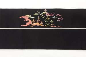 東京染繍大彦製 縮緬名古屋帯のサブ5画像