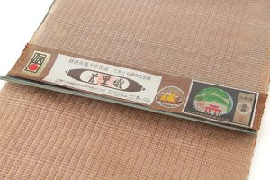 首里花織(絽入り)名古屋帯地のサブ3画像