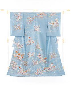 白木染匠製 京友禅訪問着地 「波に束ね草花」のメイン画像