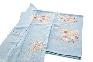 白木染匠製 京友禅訪問着地 「波に束ね草花」のサブ1画像