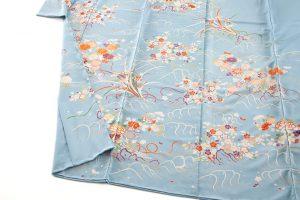 白木染匠製 京友禅訪問着地 「波に束ね草花」のサブ3画像