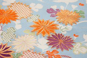 白木染匠製 京友禅訪問着地 「波に束ね草花」のサブ4画像