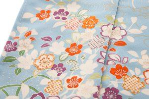 白木染匠製 京友禅訪問着地 「波に束ね草花」のサブ5画像