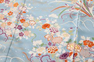 白木染匠製 京友禅訪問着地 「波に束ね草花」のサブ6画像