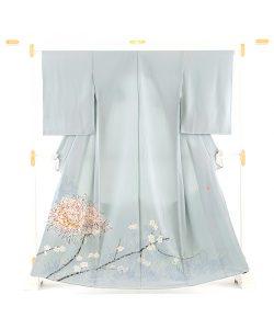 柿本市郎作 本加賀友禅色留袖地「牡丹に梅」のメイン画像
