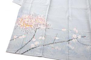 柿本市郎作 本加賀友禅色留袖地「牡丹に梅」のサブ2画像