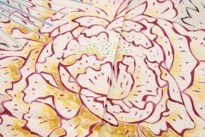 柿本市郎作 本加賀友禅色留袖地「牡丹に梅」のサブ4画像