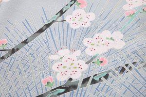 柿本市郎作 本加賀友禅色留袖地「牡丹に梅」のサブ5画像
