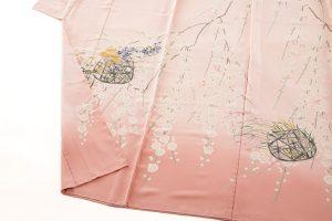 柿本市郎作 本加賀友禅訪問着地 「しだれ梅花篭」のサブ3画像