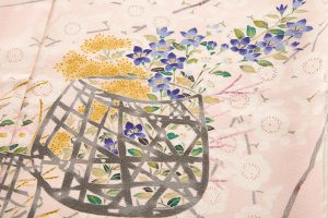 柿本市郎作 本加賀友禅訪問着地 「しだれ梅花篭」のサブ4画像