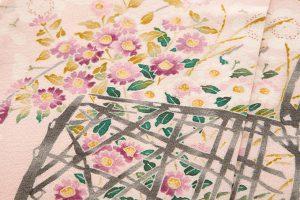 柿本市郎作 本加賀友禅訪問着地 「しだれ梅花篭」のサブ5画像