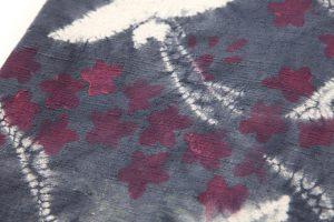 鈴木紀絵作 絞り染紬名古屋帯のサブ3画像