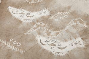 鈴木紀絵作 絞り染紬訪問着のサブ4画像