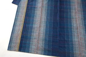 平山八重子作 紬織着物「藍の調べ」のサブ1画像