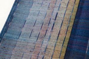 平山八重子作 紬織着物「藍の調べ」のサブ3画像