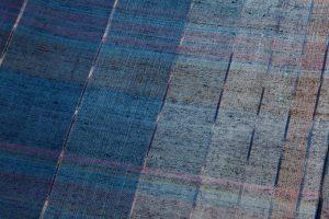 平山八重子作 紬織着物「藍の調べ」のサブ4画像