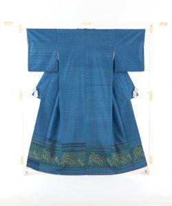 人間国宝 佐々木苑子作 紬織着物のメイン画像