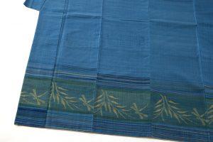 人間国宝 佐々木苑子作 紬織着物のサブ2画像