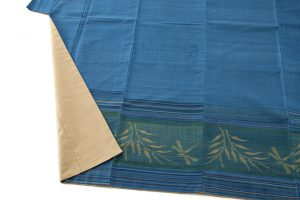 人間国宝 佐々木苑子作 紬織着物のサブ3画像