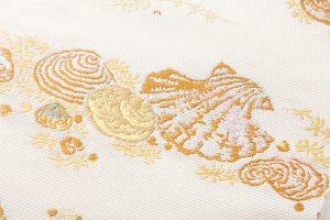 龍村美術織物製 夏袋帯地 「磯香映飾錦」のサブ2画像