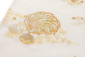 龍村美術織物製 夏袋帯地 「磯香映飾錦」のサブ3画像