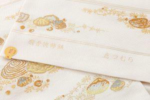龍村美術織物製 夏袋帯地 「磯香映飾錦」のサブ4画像