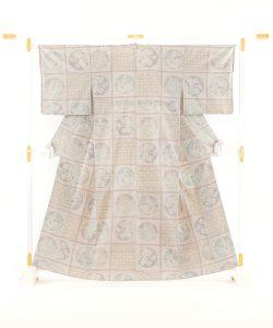 本場結城紬 100総詰絣着物のメイン画像