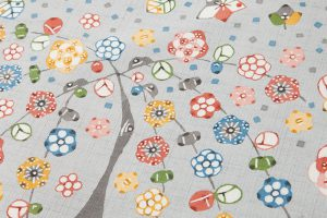岡本紘子作 型絵染紬名古屋帯地のサブ3画像