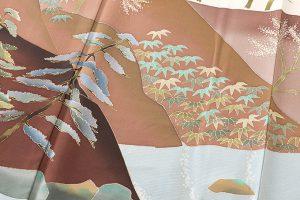 西尾翠峰作 本加賀友禅訪問着のサブ4画像