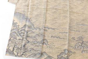 井口誠一郎作  越後上布 訪問着「笹川流れ」のサブ2画像