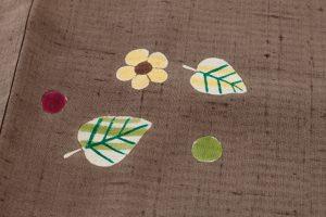 型絵染 紬着物のサブ5画像