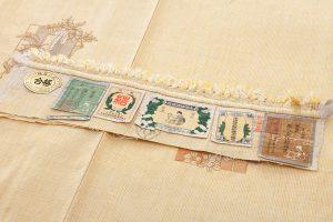 本場結城紬地 刺繍訪問着のサブ6画像