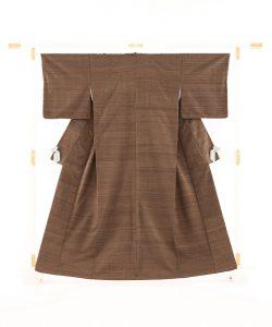山崎桃麿作 紬着物のメイン画像