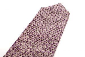 紫根染 紬名古屋帯のサブ1画像