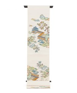 龍村平蔵製 袋帯「加賀染楼閣山水」のメイン画像