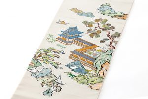 龍村平蔵製 袋帯「加賀染楼閣山水」のサブ1画像