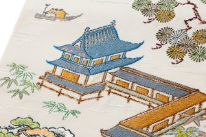 龍村平蔵製 袋帯「加賀染楼閣山水」のサブ2画像