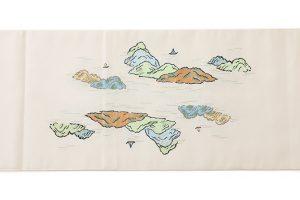 龍村平蔵製 袋帯「加賀染楼閣山水」のサブ3画像